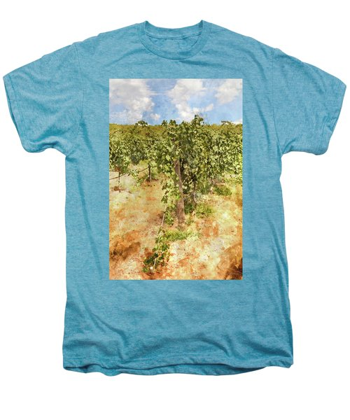 Napa Vineyard In The Spring Men's Premium T-Shirt