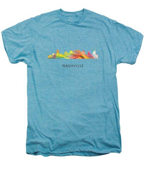 Nashville Tennessee Skyline Men's Premium T-Shirt by Marlene Watson