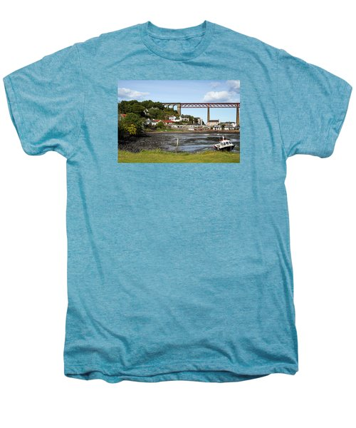 Men's Premium T-Shirt featuring the photograph North Queensferry by Jeremy Lavender Photography