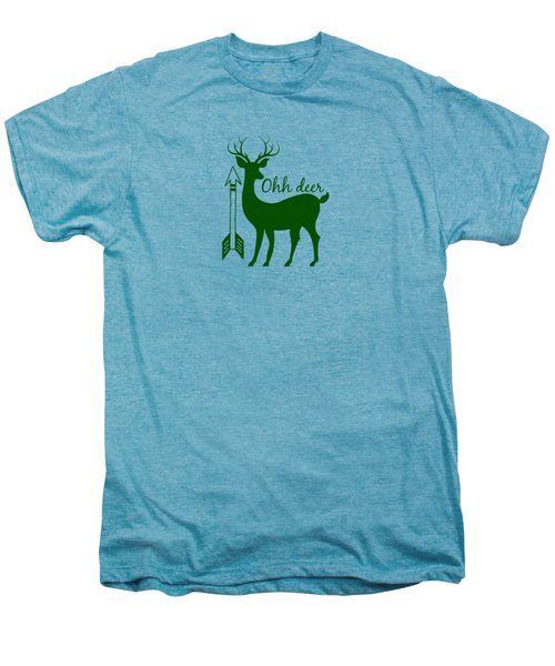 Ohh Deer Men's Premium T-Shirt by Chastity Hoff