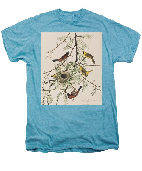 Orchard Oriole Men's Premium T-Shirt by John James Audubon