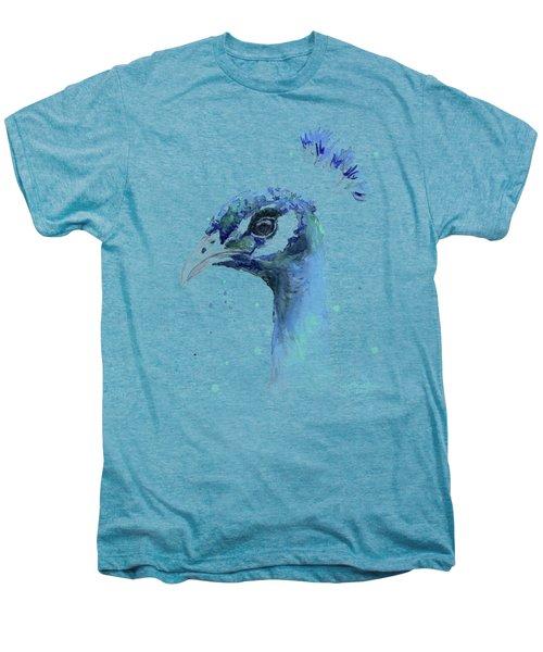 Peacock Watercolor Men's Premium T-Shirt