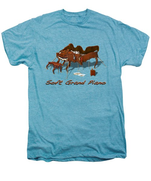 Soft Grand Piano  Men's Premium T-Shirt by Mike McGlothlen