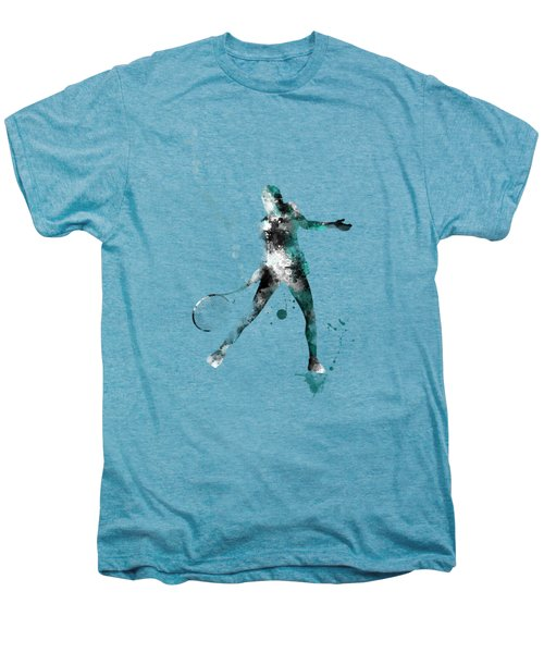 Tennis Player Men's Premium T-Shirt by Marlene Watson
