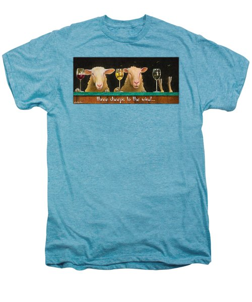 Three Sheeps To The Wind... Men's Premium T-Shirt by Will Bullas