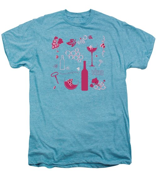 Wine Background Pattern Men's Premium T-Shirt by Serena King