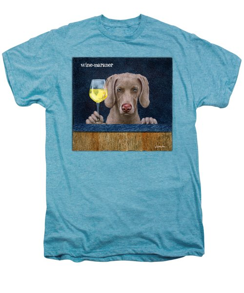 Wine-maraner Men's Premium T-Shirt by Will Bullas