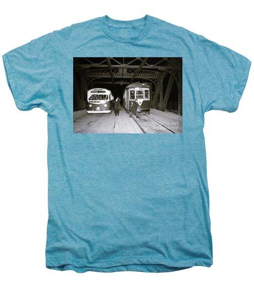 207th Street Crosstown Trolley Men's Premium T-Shirt by Cole Thompson