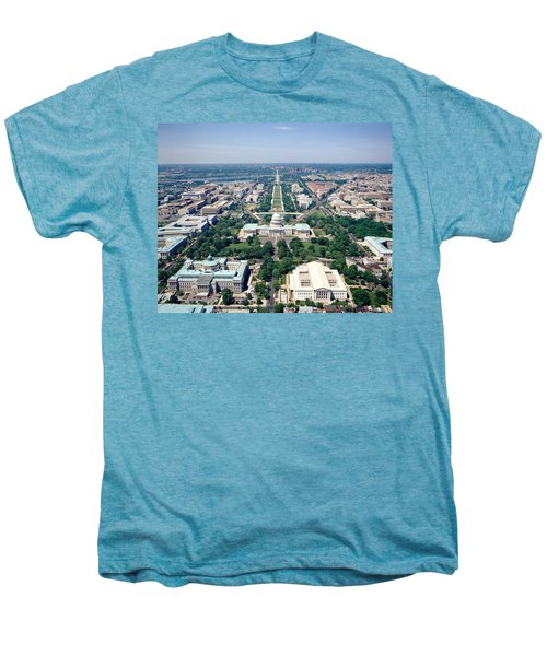 Aerial View Of Buildings In A City Men's Premium T-Shirt by Panoramic Images