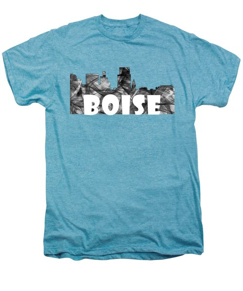 Boise Idaho Skyline Men's Premium T-Shirt by Marlene Watson
