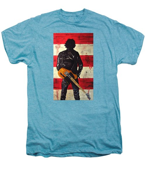 Bruce Springsteen Men's Premium T-Shirt by Francesca Agostini