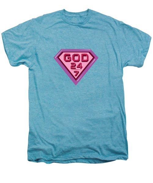 3 D Pink/purple Men's Premium T-Shirt
