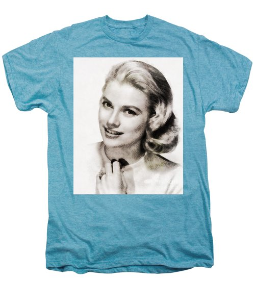 Grace Kelly, Vintage Hollywood Actress Men's Premium T-Shirt by John Springfield
