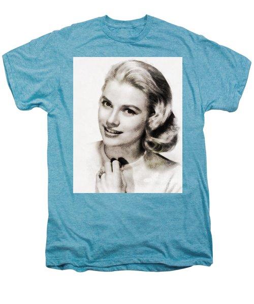Grace Kelly, Vintage Hollywood Actress Men's Premium T-Shirt