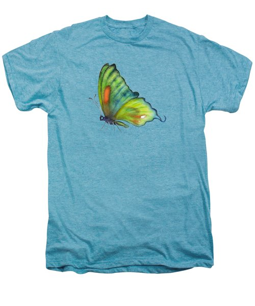 3 Perched Orange Spot Butterfly Men's Premium T-Shirt by Amy Kirkpatrick