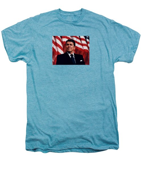 President Ronald Reagan Men's Premium T-Shirt by War Is Hell Store