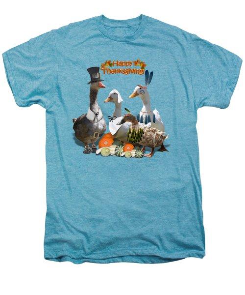 Thanksgiving Ducks Men's Premium T-Shirt