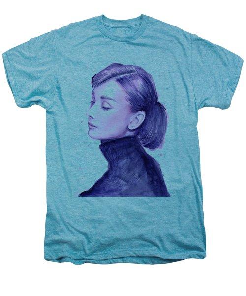 Audrey Hepburn Portrait Men's Premium T-Shirt
