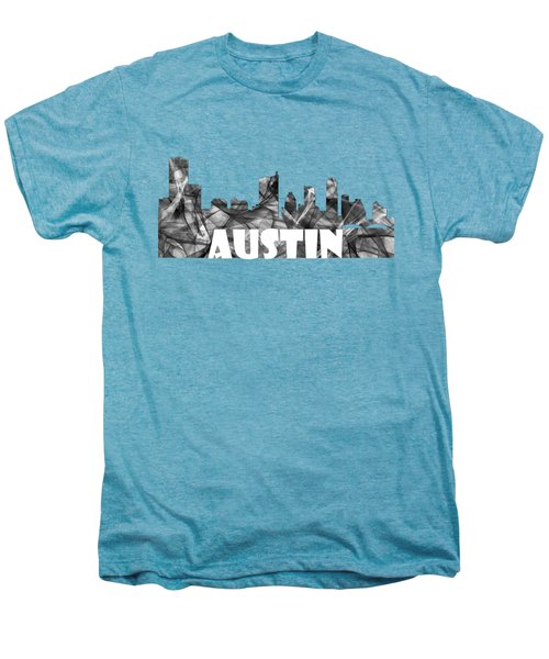Austin Texas Skyline Men's Premium T-Shirt by Marlene Watson