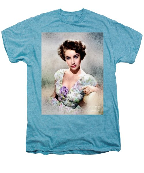 Elizabeth Taylor, Vintage Hollywood Legend Men's Premium T-Shirt