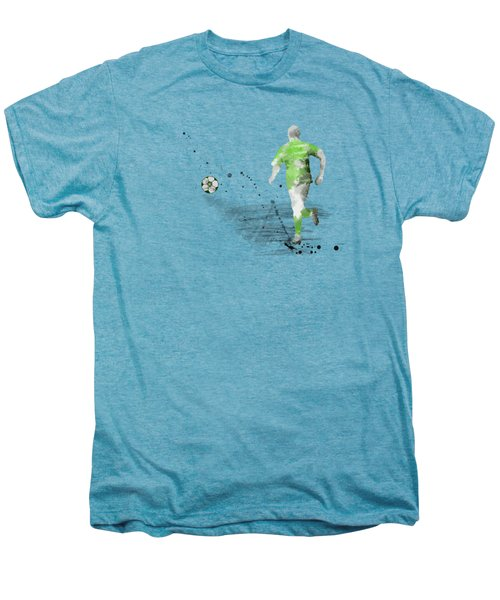 Football Player Men's Premium T-Shirt by Marlene Watson
