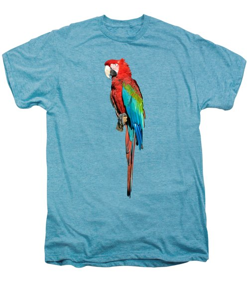 Red And Green Macaw Men's Premium T-Shirt by George Atsametakis