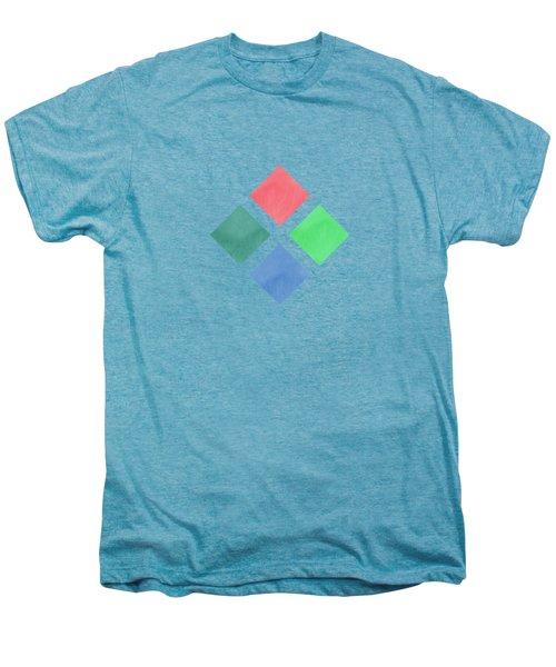 Watercolor Geometric Background Men's Premium T-Shirt