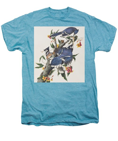 Blue Jay Men's Premium T-Shirt by John James Audubon