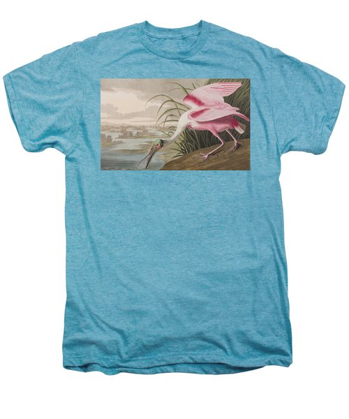 Roseate Spoonbill Men's Premium T-Shirt by John James Audubon