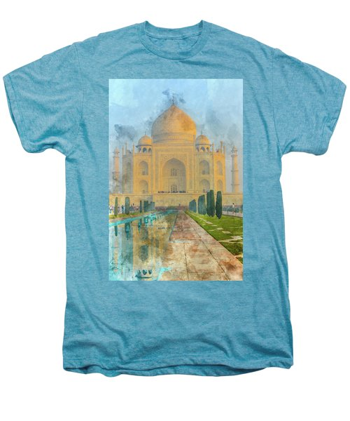 Taj Mahal In Agra India Men's Premium T-Shirt
