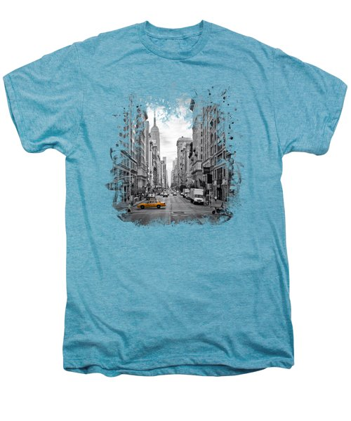 New York City 5th Avenue Men's Premium T-Shirt by Melanie Viola