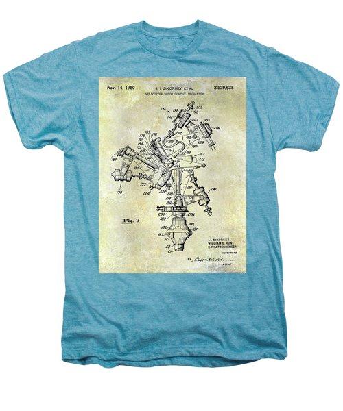 1950 Helicopter Patent Men's Premium T-Shirt by Jon Neidert