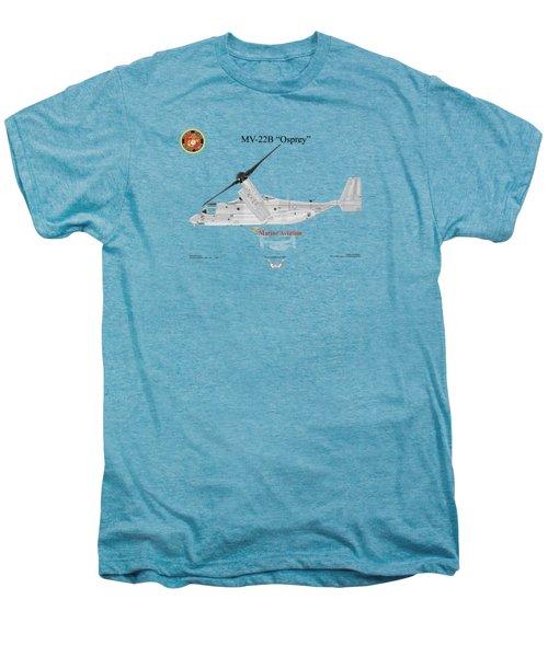 Bell Boeing Mv-22b Osprey Men's Premium T-Shirt by Arthur Eggers