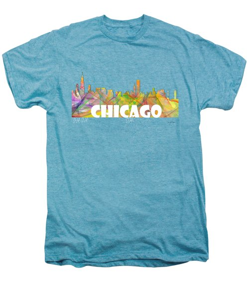 Chicago Illinois Skyline Men's Premium T-Shirt
