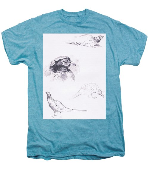 Pheasants Men's Premium T-Shirt by Archibald Thorburn