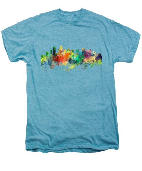 Charlotte Nc Skyline Men's Premium T-Shirt by Marlene Watson
