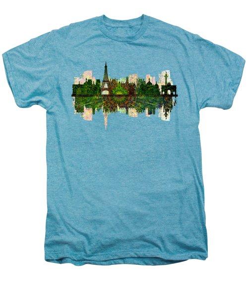 Paris France Fantasy Skyline Men's Premium T-Shirt by John Groves