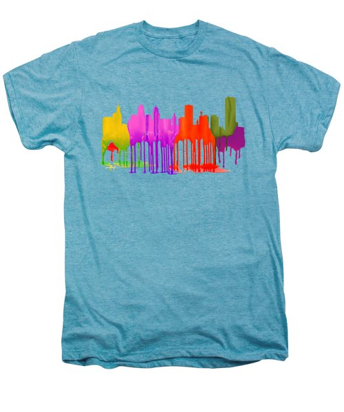 Buffalo New York Skyline Men's Premium T-Shirt by Marlene Watson