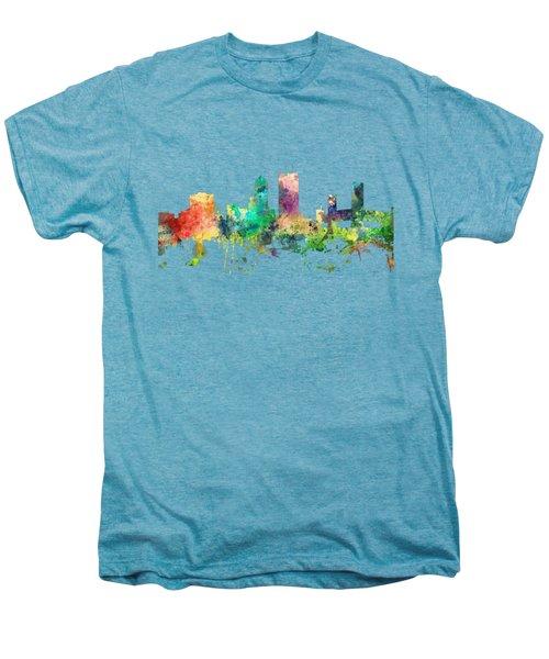 Jacksonville Florida Skyline Men's Premium T-Shirt by Marlene Watson