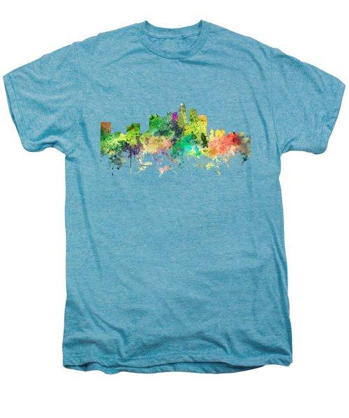 Los Angeles California Skyline Men's Premium T-Shirt by Marlene Watson