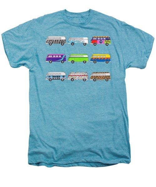 9 Wild Buses Men's Premium T-Shirt by Rita Palmer
