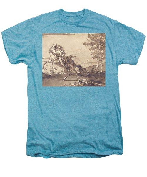 A Centaur Abducting A Nymph Men's Premium T-Shirt