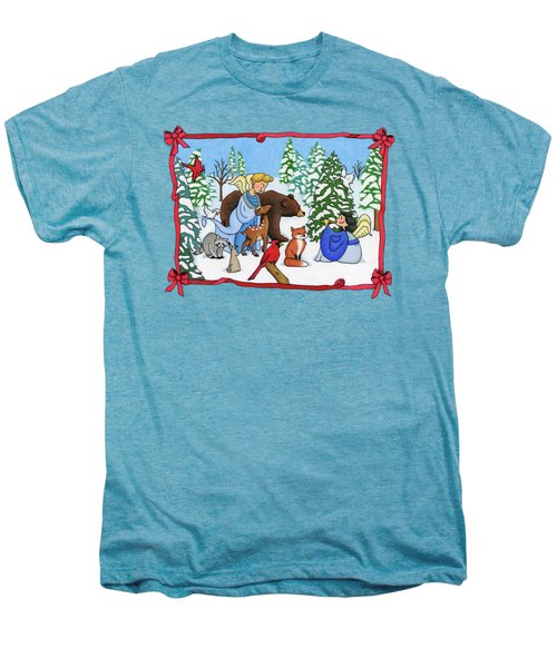 A Christmas Scene 2 Men's Premium T-Shirt by Sarah Batalka