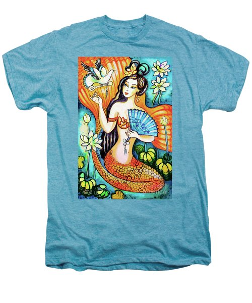 Men's Premium T-Shirt featuring the painting A Letter From Far Away by Eva Campbell