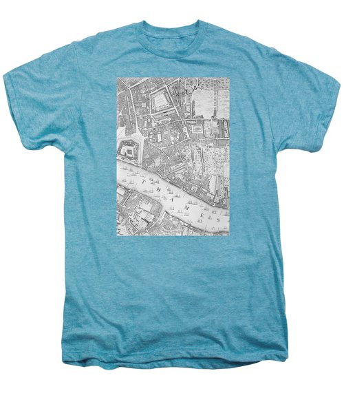 A Map Of The Tower Of London Men's Premium T-Shirt by John Rocque