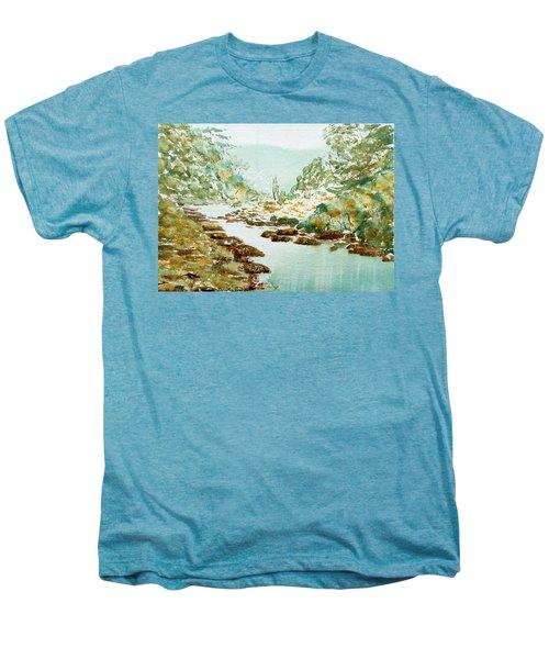 A Quiet Stream In Tasmania Men's Premium T-Shirt