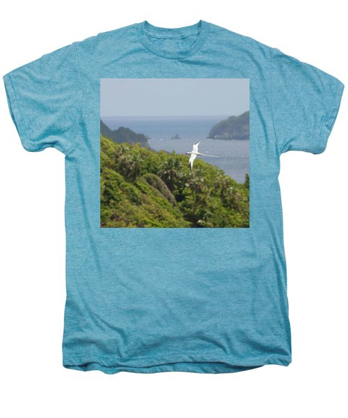 A Red-billed Tropicbird (phaethon Men's Premium T-Shirt