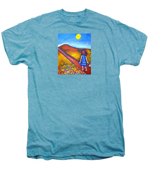 Men's Premium T-Shirt featuring the painting A Sunny Path by Winsome Gunning