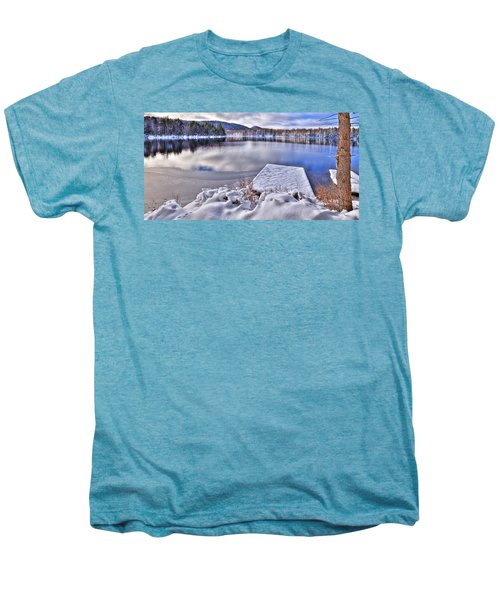 Men's Premium T-Shirt featuring the photograph A Winter Day On West Lake by David Patterson