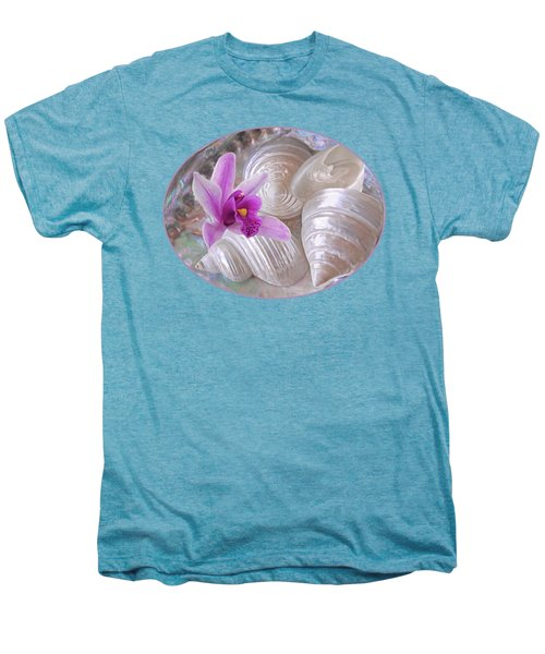 Abalone With Pearl Shells And Purple Orchid Men's Premium T-Shirt